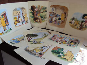 Winnie The Pooh And Friends Colourful  Prints Wall Art 2004 Andrew Grey