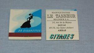 2-POCHETTES-D-039-ALLUMETTES-PUB-GITANES-matches-paquet-20-cigarettes-collection