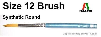 Bene Italeri 51215 - Brush Pennello Sintetico Punta Tonda 12 - Nuovo Ottima Qualità