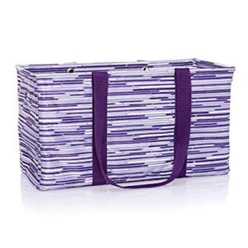 Thirty one LARGE MEDIUM UTILITY tote Laundry Basket beach Bag 31 gift geo stripe