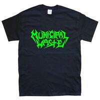 MUNICIPAL WASTE T-SHIRT sizes S M L XL XXL colours Black, White