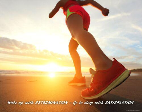 Running Motivational Poster Print Jogging Shoes Shorts Boston Marathon MVP480