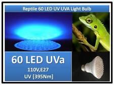 Doc Brown Lizard Snake Turtle Reptile 60 LED UV UVa Light Bulb 110V E27 USA Cert