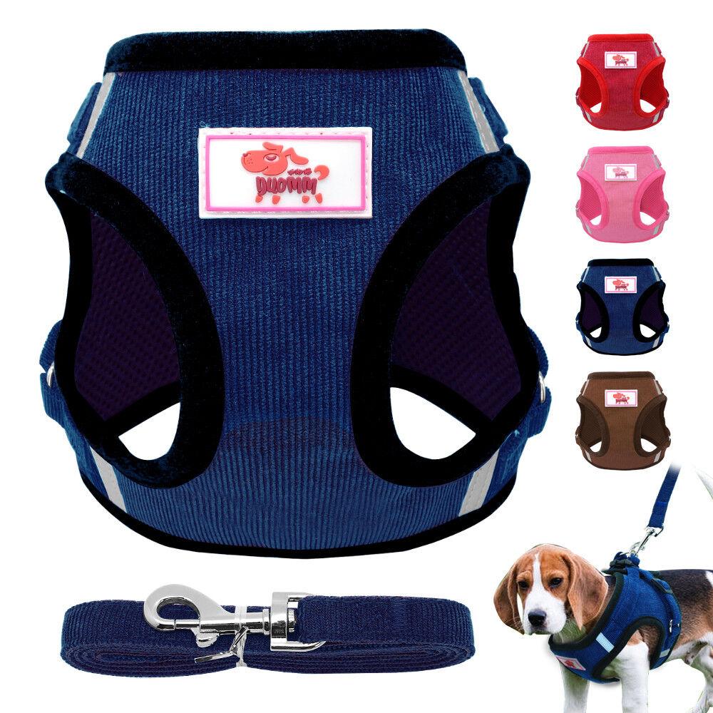 Non Pull Dog Harness Adjustable Soft Padded Vest Small Medium Mesh Jacket XS-XL 2