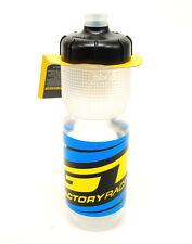 GT Factory Mountain Bike Water Bottle 600ml BPA FREE Clear//Blue//Yellow