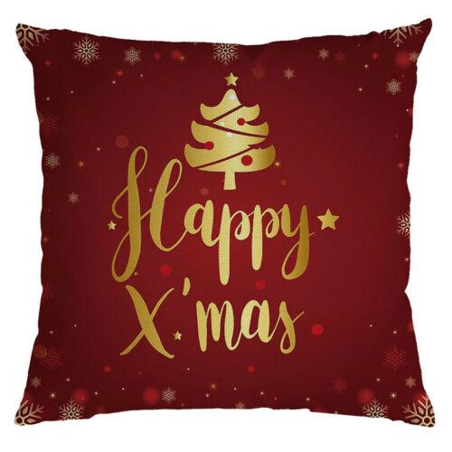 Christmas Festival Pillow Pillowcases Decor Sofa Square Cushion Cover 45x45cm