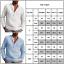 Mens Casual Long Sleeve Henley T-Shirts Button Loose Grandad Collar Shirts Tops