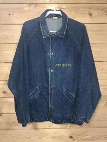 Vintage CROSS COLOURS Denim Jean Jacket Size 3 VIN