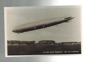 Original Mint RPPC Graf Zeppelin Landing LZ 127 Real Picture Postcard