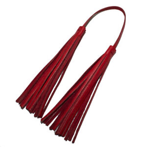 Raviani-Genuine-Red-Leather-Fringe-Bag-Charm-Made-In-USA