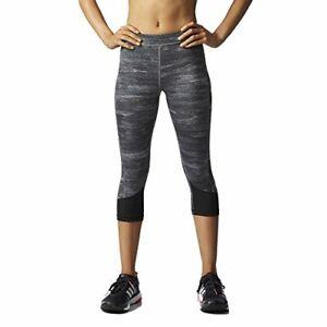 Adidas-Womens-Techfit-Space-Dyed-Capri-Leggings-Black-Heather-Large