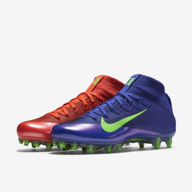 Nike Vapor velocidad Untouchable 2 Tacos 824470-874 Light Azul Rojo Talla 11.5