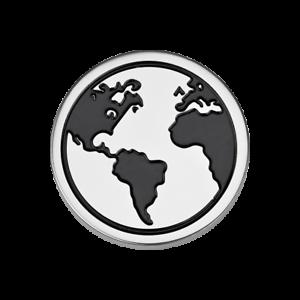 Coin CS350 von CEM für 33 mm Anhängerrahmen Edelstahl Weltkugel