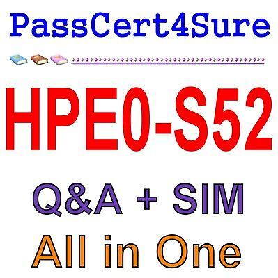 HP Building HPE Server Solutions Test HPE0-S52 Exam QA PDF+Simulator
