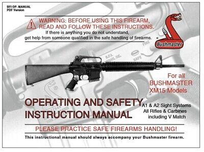 Bushmaster XM15 Rifle Owners Manual   eBay