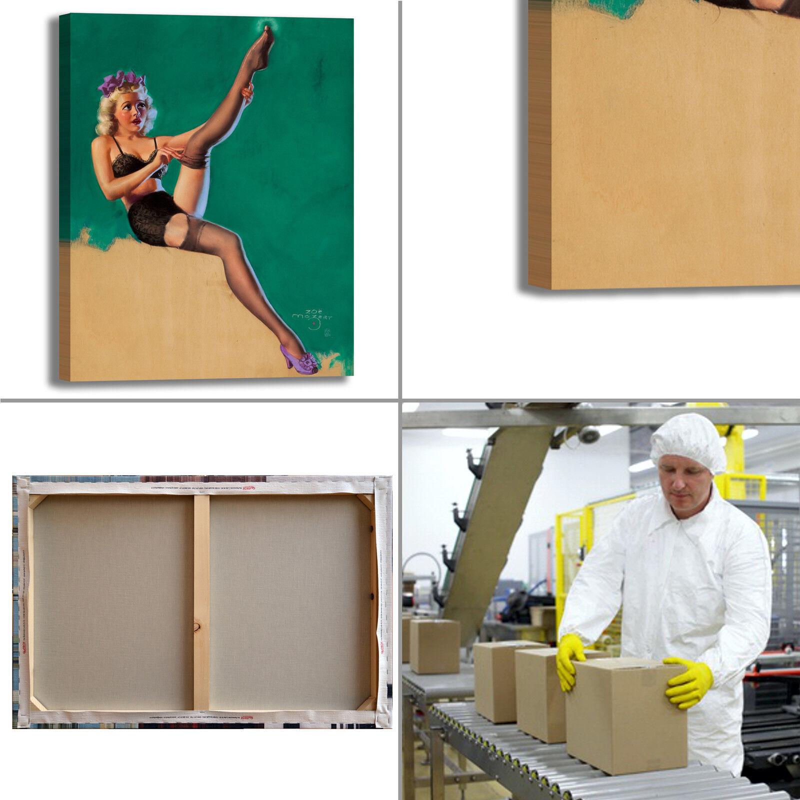Pin Up vintage anni 50 60 70 design quadro telaio stampa tela telaio quadro arRouge o casa 05 134552