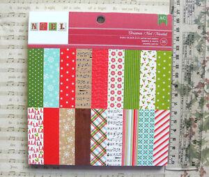 CHRISTMAS-034-NOEL-034-18-Designs-2-of-Each-Single-Sided-Heavy-Cardstock-6x6Pk-AC
