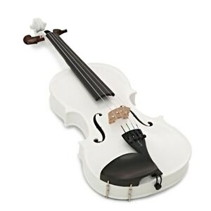 Harlequin Violin Outfit White 4/4 Full Size with Lightweight Case 1401AWH