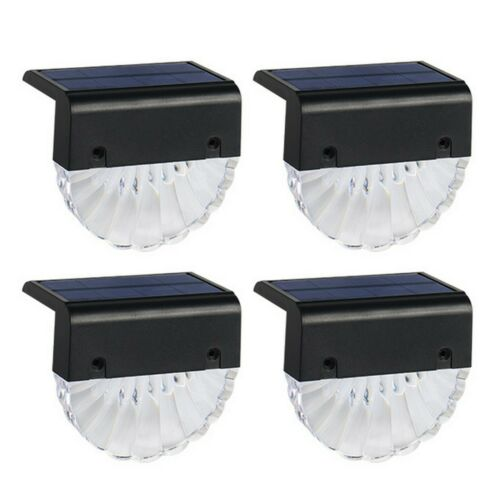4Pcs Solar Lamp Outdoor Step Fence Light Waterproof Garden Path Stairs Balcony