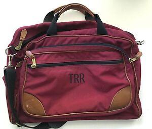 Vintage LL Bean Duffle Gym Bag Carry On Travel Luggage Red Canvas ... fc198c36e5