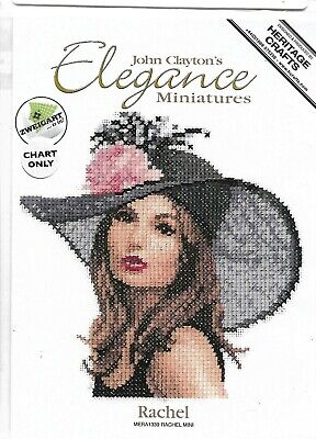 HERITAGE CRAFTS J CLAYTONS ELEGANCE MINIATURES RACHEL COUNTED CROSS STITCH KIT