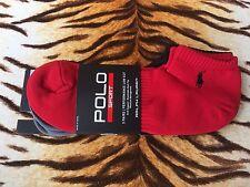 Nuevo con etiquetas Ralph Lauren para hombre Negro/Gris/Rojo Polo Caballo Logo 3 Pack Calcetines De Deporte