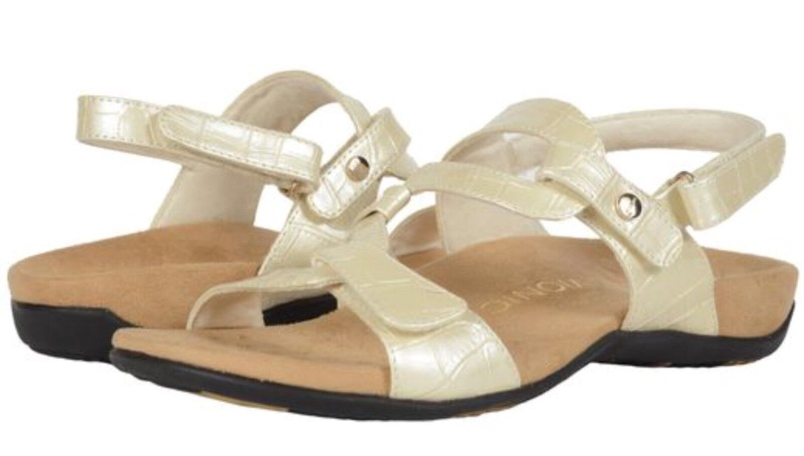 NIB Vionic Rest Paros Women's Adjustable Sandal Orthaheel Arch Support White I