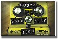 Music Is A Safe Kind Of High - Guitar Pedal - Music Poster