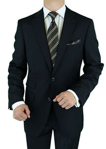 Luciano-Natazzi-Made-in-Italy-Ticket-Pocket-Mens-Suit-180-039-S-Black-Stripe