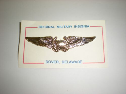US NAVY FLIGHT OFFICER WINGS GOLD ANODIZED FULL SIZE