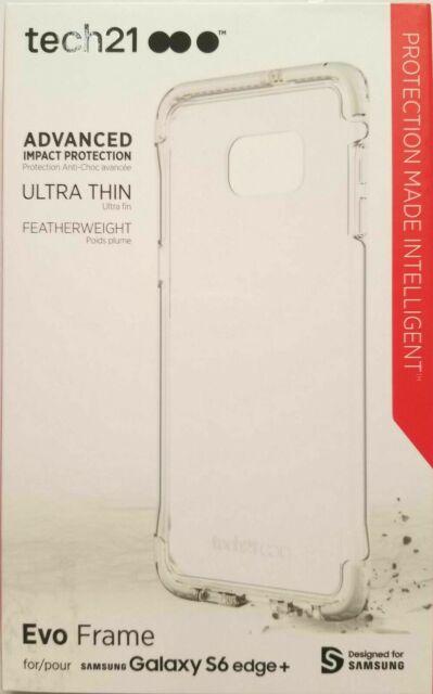 pretty nice e121f bb2ac Tech 21 Evo Frame Ultra Thin Advanced Case For Samsung Galaxy S6 Edge Plus  Clear