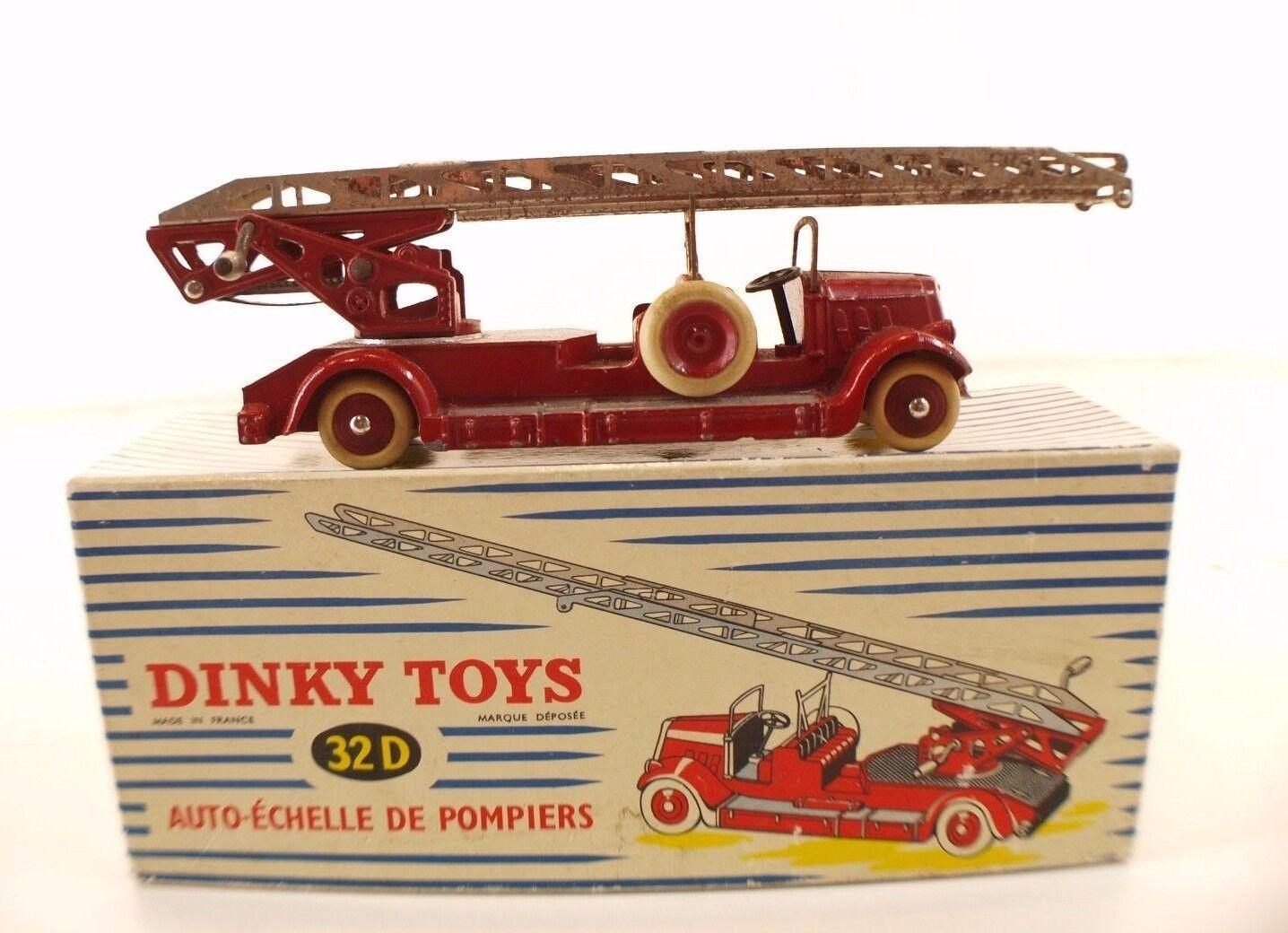Dinky giocattoli F n° 32D Delahaye Autoéchelle de pompiers fire truck en boite