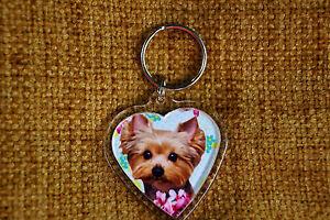 Yorkshire-Terrier-Keyring-Yorkie-Dog-Key-Ring-heart-shaped-Xmas-Mothers-Day-Gift