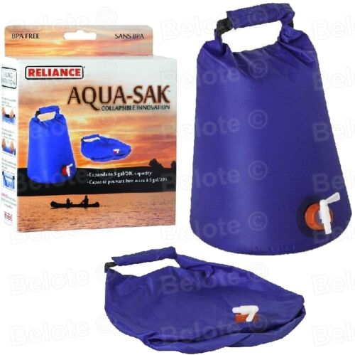 1507-03 environ 18.93 L Reliance nylon aqua-SAK conteneur d/'eau pliant Innovation 5 Gal