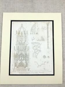1826-Antique-Print-King-Henry-VII-Chapel-Westminster-Abbey-Pugin-Engraving