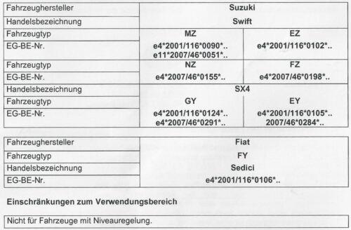 MAD HV-391045 Zusatzfeder Niveaufedern Verstärkung Fiat Sedici Suzuki Swift SX4