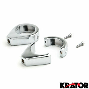 39mm Black Motorcycle Indicator Brackets For Victory Hammer 8-Ball Harley Dyna