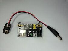 Breadboard Power Supply 5/3.3V+PP3 Batt Connector-Prototype AVR,Pi,Arduino,PIC