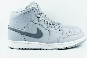 cheap for discount 303be d34d8 Details about Nike Air Jordan 1 Mid Mens Multi Size Shoes Wolf Cool Grey  554724 033