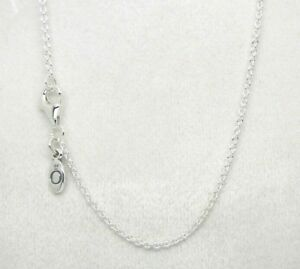 2fecafa3c Image is loading Authentic-Pandora-590412-45-Chain-Necklace-Sterling-Silver-