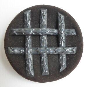 Bouton-ancien-Decor-applique-sur-Cuir-42-mm-Escutcheon-Leather-Button