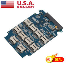 "10 x Micro SD Memory Card to SATA SSD Adapter + RAID Quad 2.5"" SATA Converter TO"