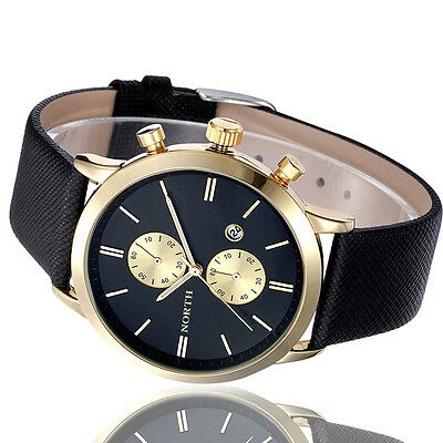 North Fashion Mens Sport Date Stainless Steel Military Quartz Wristwatches #MNH