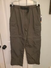 Royal Robbins Mens Large Zip N' Go Backcountry Belted Pants Relaxed Fit Obsidian
