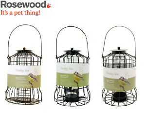 ROSEWOOD-WILD-BIRD-FEEDER-SEED-FAT-BALL-NUT-SQUIRREL-PROOF-HANGING-GARDEN-FEEDER