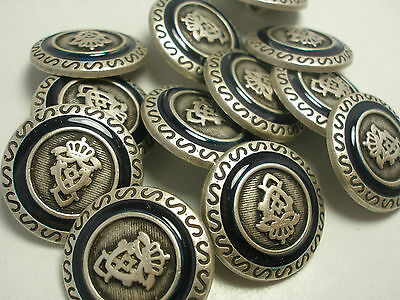 New lots Silver Metal Buttons crested 5/8 11/16 13/16 7/8 1in blazer suit #SN