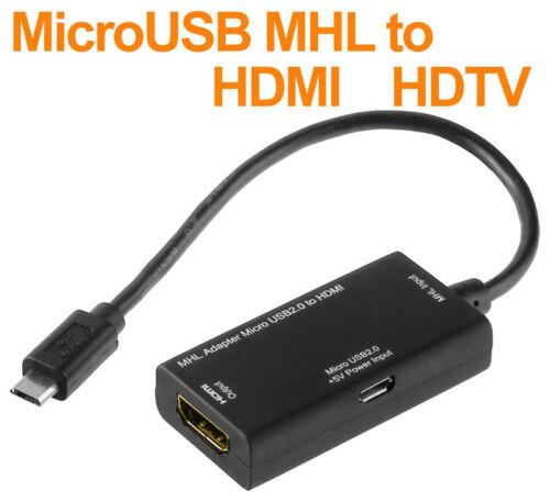 Adaptador MHL cable Micro USB a HDMI para LG Optimus G e973//e975 HDTV