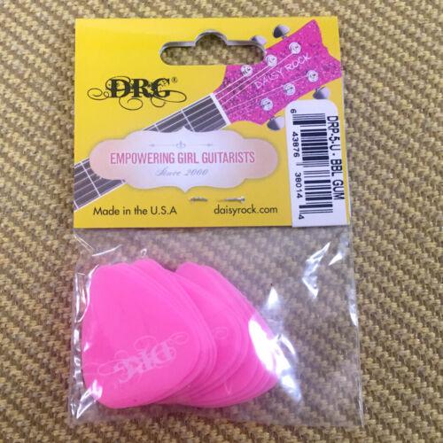 DRP-5-U Daisy Rock Bubble Gum Pink Premium 12 Pack Guitar Picks