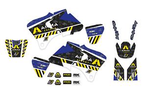 Kit adesivi grafiche Yamaha WRF 250 400 426 1998 1999 2000 2001 2002 in Crystall