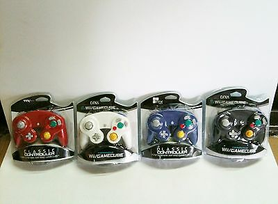 4 BRAND NEW CONTROLLERS FOR NINTENDO GAMECUBE or Wii BLACK, WHITE, RED, BLUE